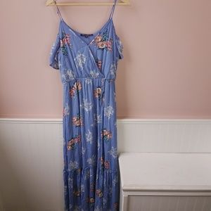 NWT One Clothing cold shoulder wrap maxi dress